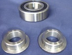 Bearing top hat sleeves for Aliminium pulley