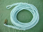23 metre rope trace including stainless steel ring and quick release hook.